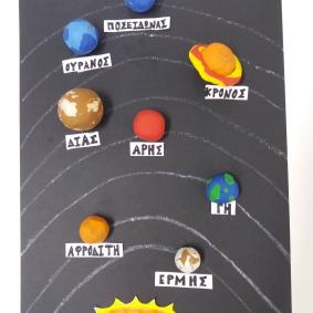 Κατασκευάσαμε το ηλιακό σύστημα με πλαστελίνη [Θεματική ενότητα: Διάστημα]