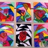 Υποδεχτήκαμε την άνοιξη ζωγραφίζοντας τριαντάφυλλα σε βιτρώ